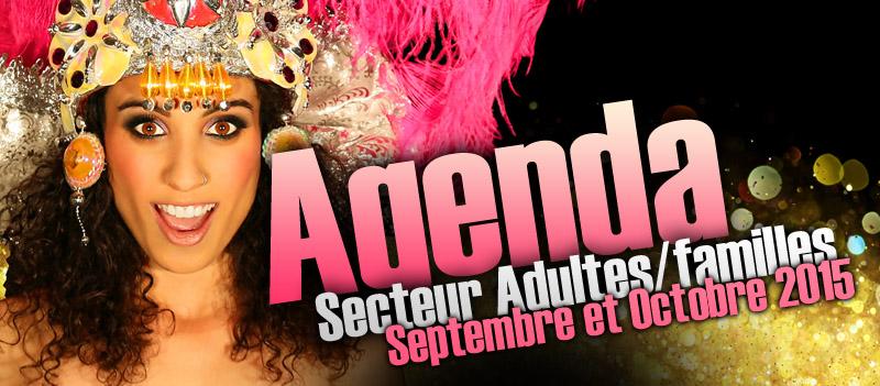 L'agenda du secteur adultes