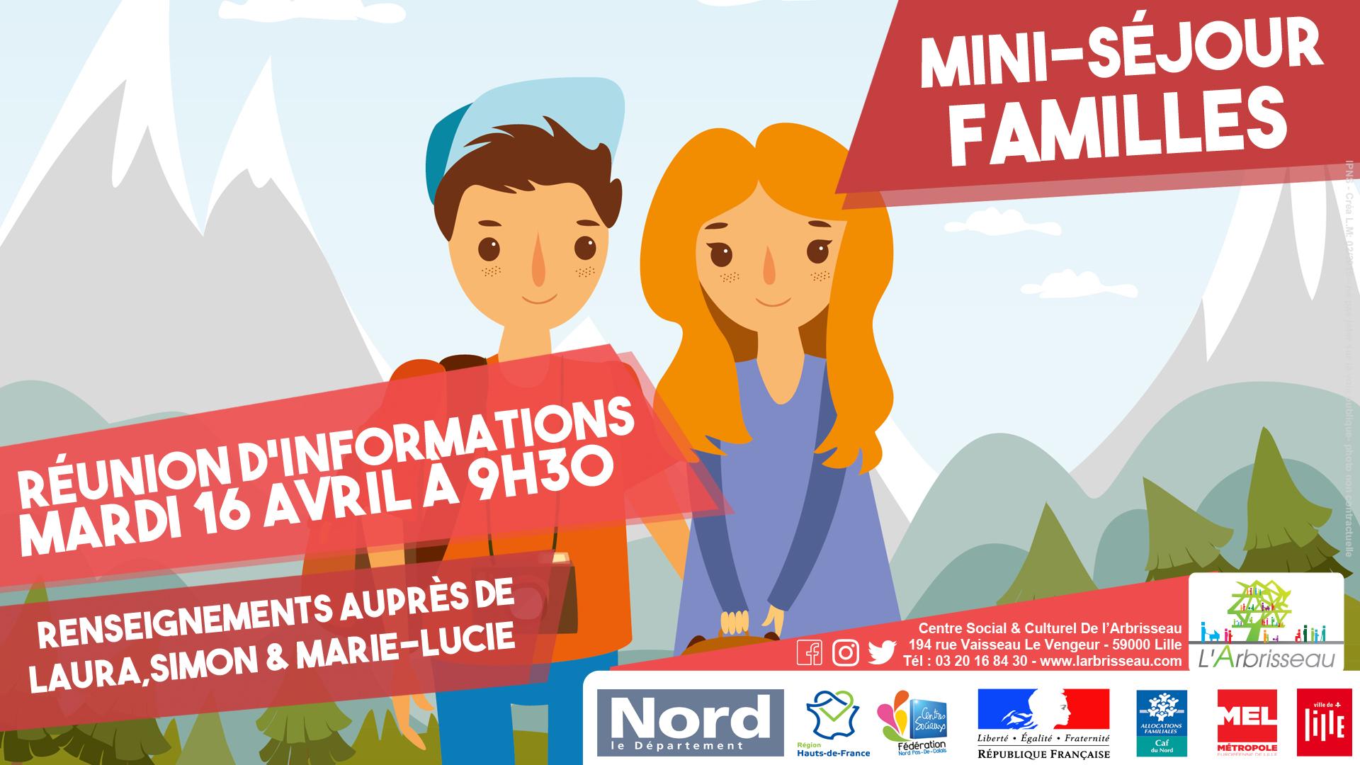 Réunion : Mini-séjour familles